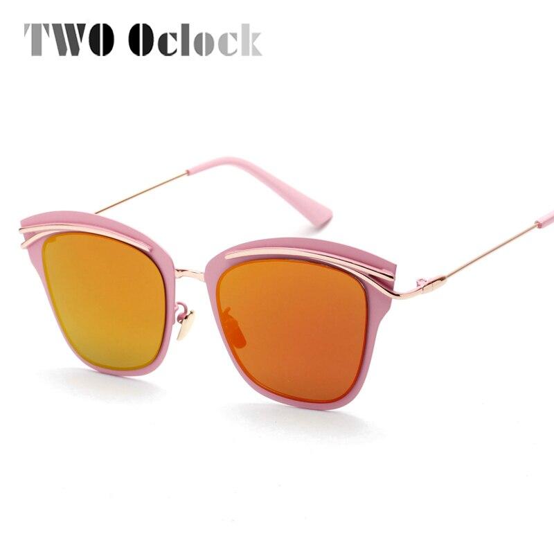 d2b2204e1 اثنين كلوك المتضخم فراشة النظارات الشمسية النساء مكافحة الأشعة فوق  البنفسجية نظارات شمسية للمرأة مرآة ظلال الوردي الأسود نظارات هلالية 13860