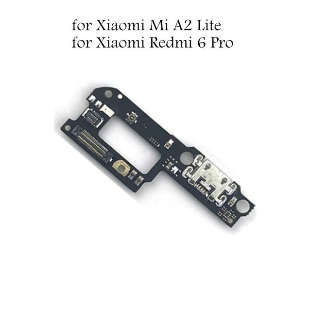 Для Xiaomi mi A2 Lite USB разъем для зарядного устройства Flex кабель Red mi 6 Pro зарядка через usb док-станция для микросхема для монтажа на печатной плате для гибких кабелей запасных Запчасти