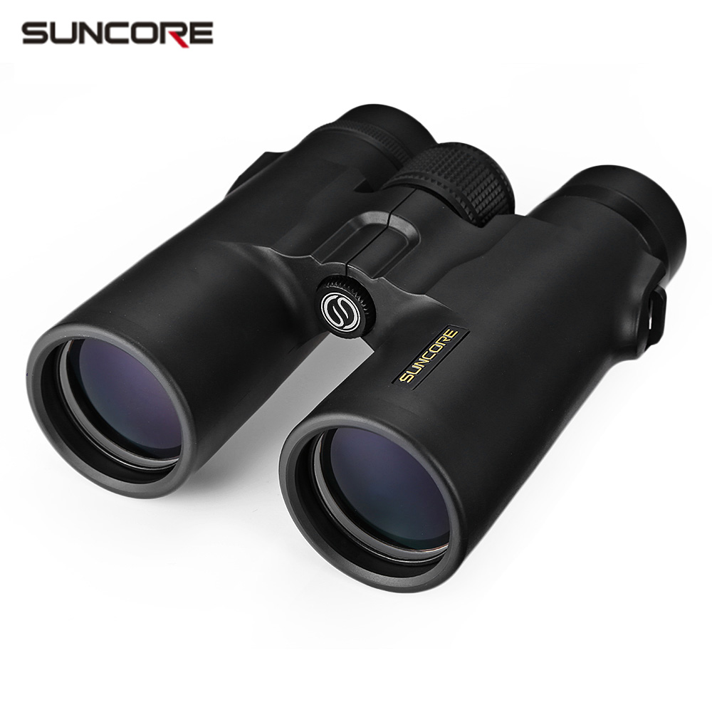 SUNCORE 10X42 102M / 1000M HD Vision Wide-angle Prism Binocular Outdoor Folding Telescope free shipping suncore traveler 8x35 night vision binocular telescope fmc model