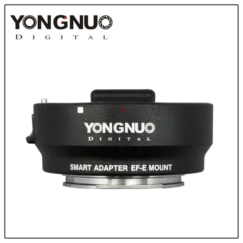 YONGNUO Auto-focus Smart Adapter EF-E Mount For Canon EF EF-S Lens For Sony A6000 A5000 NEX7R 7RNEX E-Mount Adapter viltrox ef nex iii auto focus adapter for canon eos ef ef s lens to for sony e nex a7 a7r a7sii a7ii a6300 a6000 full frame