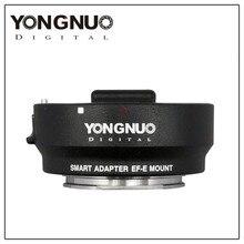 YONGNUO автофокусом Smart Адаптер EF-E крепление для Canon EF-S объектив для Sony a6000 a5000 nex7r 7 rnex E-адаптер