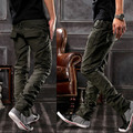 Fashion oversized long trousers plus size plus size casual pants male 100% cotton straight pants men's clothing