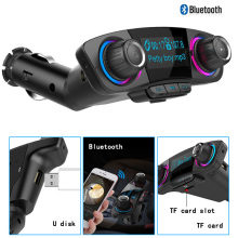 FM Transmitter Bluetooth Handsfree Car Kit Wireless Radio Audio Adapter Dual USB 2.1A Car USB Charger AUX MP3 Player Hands Free car fm transmitter kit bluetooth hands free radio adapter mp3 player lcd charger 220130