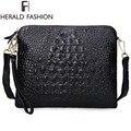 Crocodilo genuíno bolsa de couro moda elegante mulheres bolsa de ombro mensageiro saco dia da embreagem 2014 Designer Bolsas Femininas