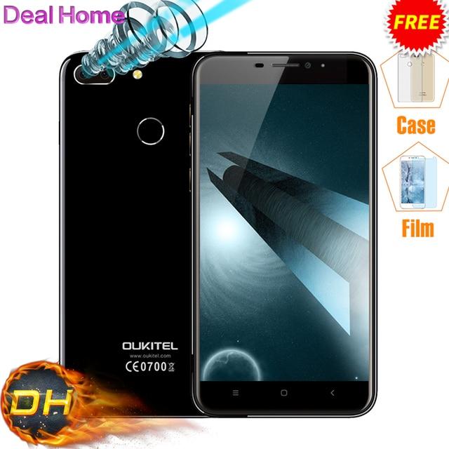 "Original Oukitel U20 Plus Dual Camera Mobile phone 4G LTE Android 6.0 5.5"" FHD MTK6737T Quad Core Fingerprint ID 13MP Smartphone"