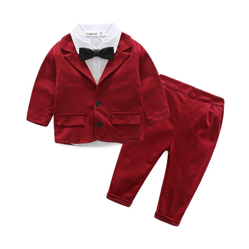 Newborn Baby Boy Clothes New Formal Party Bodysuit Outfit Baby Suits for Boys Formal Gentleman Sleeve Shirt + Pants Wedding Sets blue gentleman boys clothes 3pcs set long sleeve shirt vest pants new style baby boy clothes
