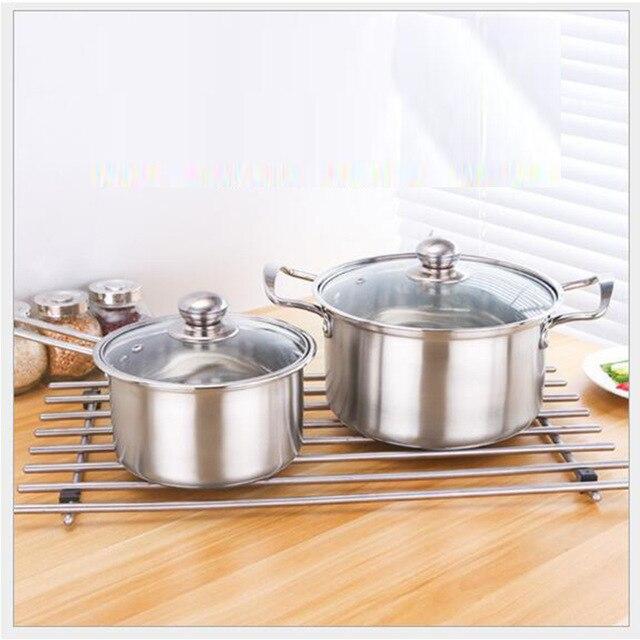 1 panci sup susu pot pan dapur memasak peralatan masak induksi gas boiler yang universal ganda menangani tunggal pot