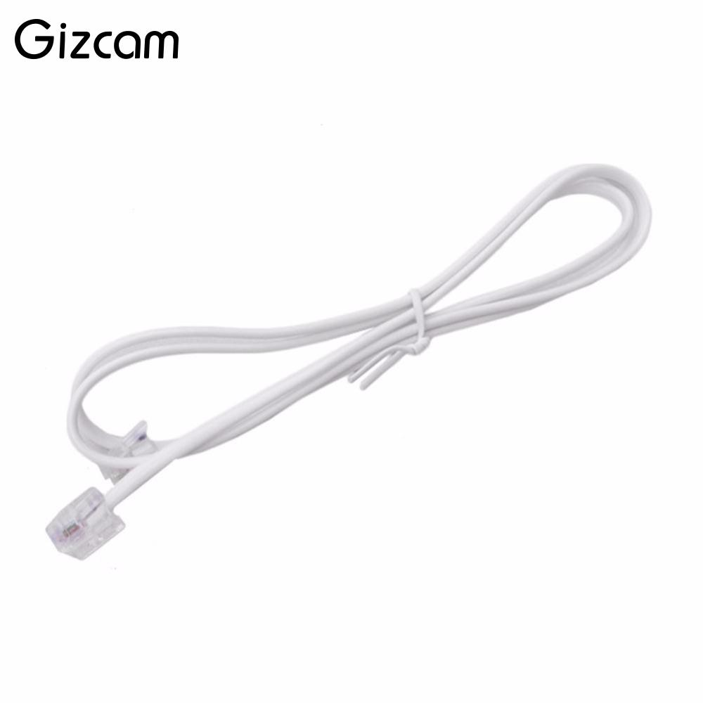 06m 2ft Feet Rj11 6p4c Modular Telephone Extension Line Cable Phone Wiring Diagram Adsl And Gizcam 05 1 15 2 3 5 10 20m
