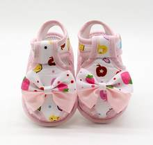 TELOTUNY Newborn Infant Baby Girls Summer Bow Soft Sole Toddler Anti-slip Shoes Sandals V11556(China)