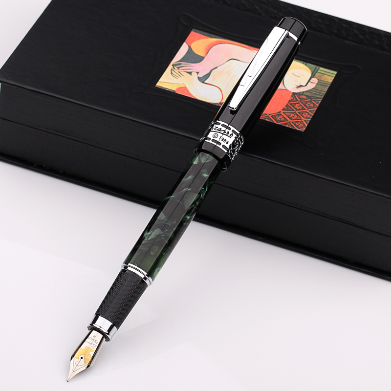 Image 2 - Picasso ps 915 eurasian feelings  symphony PS915  Iridium fountain pen sign pen gift box turquoise marble black ruby red-in Fountain Pens from Office & School Supplies
