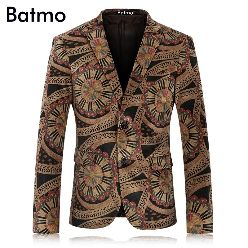 2017 new arrival of men s printed velveteen casual blazers jacket Wedding dress free shipping plus