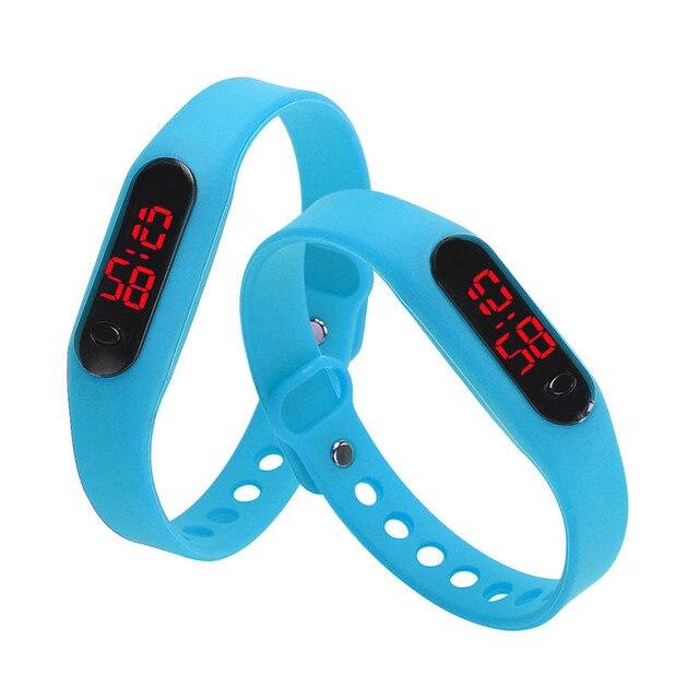 Fashion Men Women Casual Sports Bracelet Watches White LED Electronic Digital Ca
