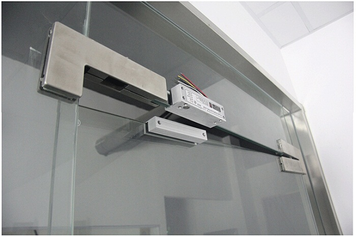 XM 600 frameless glass door electric bolt lock with time delay ...