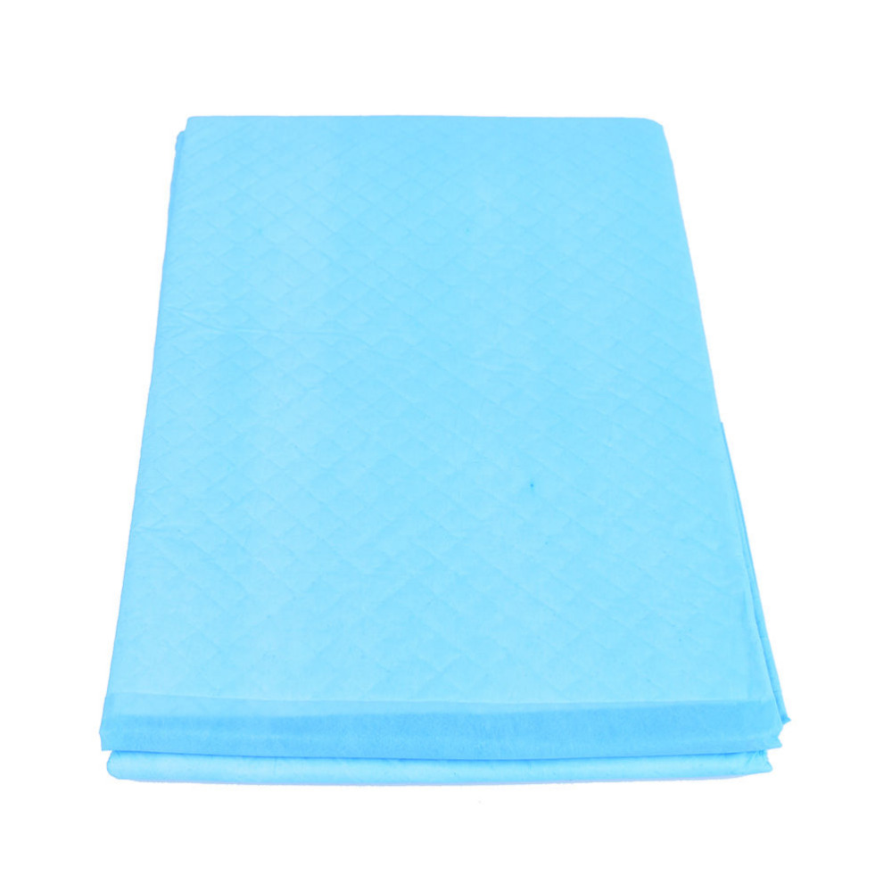 Reusable Washable Pad Urine Mat Breathable Super Absorbent Pad For Adults Incontinence Pad Nursing Pad Blue + White 75*145cm