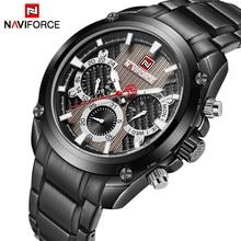 Nieuwe Mode Heren Horloges Naviforce Militray Sport Quartz 24 Uur Datum Klok Mannen Horloge Volledige Staal Waterdicht Mannelijke Horloges