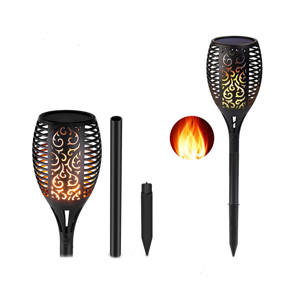 Waterproof LED Light Solar Flame Flickering Torch Garden Led light IP65 96LEDs Outdoor Landscape Decoration solar flame lamp