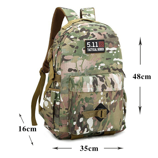 35L Organic Camo Backpack Camouflage Women Men Mochila Tactica Tactics Travel Backpacsk Camouflage Bag Students Middle Schoolbag