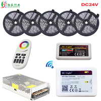 DC24V LED Strip Waterproof 5050 RGB LED Ribbon 20M 25M 15M With Mi Light Controller Remote Ibox 2 WIFI Smartphone Control+ Power
