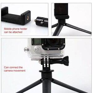 Image 5 - Trípode de poste con temporizador automático, cámara con temporizador automático para teléfono móvil, base compacta y triangular individual y portátil