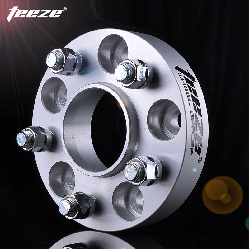 TEEZE CNC Forged Aluminum Alloy Wheel Spacer 5x112 Pcd Adapter Shims Center Bore 66.6mm For Audi BMW X3 Mercedes Benz 1 Pieces
