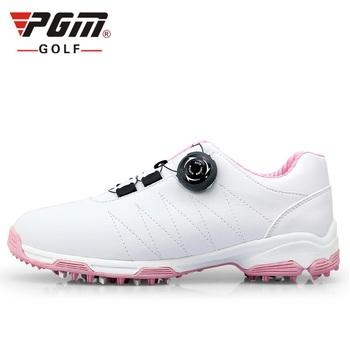 Women Fixed Nail Golf Shoes Waterproof Outdoor Non-slip Shoes Ladies Soft Leather Breathable Lightweight Athletic Shoes AA51026