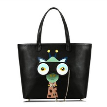 2017 New Braccialini Style MUYU Brand Design Art Cartoon Giraffe Big Eyes Women Shoulder Bags Female Totes Handbags