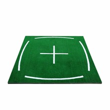 PGM Golf Course Hitting Mat Driving Range Practice Mat    4.92FT X 4.92FT, with Alignment Line, Teaching Equipments