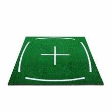 Pole golfowe PGM uderzenie Mat mata do ćwiczeń z napędem      4,92 stopy X 4,92 stopy, z linią wyrównania, sprzęt dydaktyczny