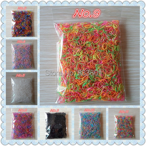 About 3000pcs/bag (small size) Child Baby TPU Hair Holders Rubber Bands New Colorful Elastic Hair Bands Girl's Hair Accessories