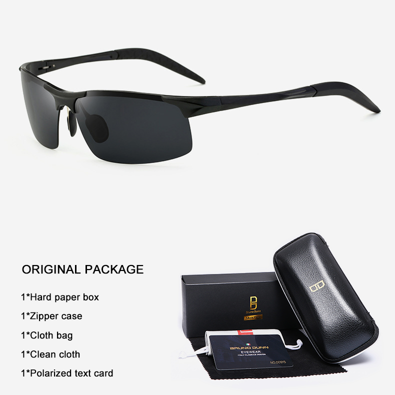 Bruno Dunn Driving polarized Men sunglasses 2020 sports High Quality UV400 Aluminum sun glasses for male oculos de sol masculino 20