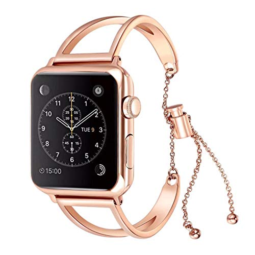 Stainless Steel Watch Band For Apple Watch 38mm 40mm 42mm 44mm Women Girls Bracelet for iWatchbands of Series 4 3 2 1 in Watchbands from Watches