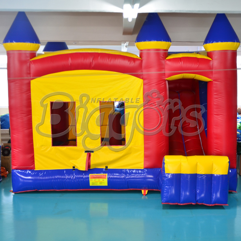 FREE SHIPPING BY SEA Cheap Inflatable Bouncer Small Bouncy Castle With Inflatable Slide For Sale free shipping by sea pvc commercial inflatable slide jumping slide with double lane for sale