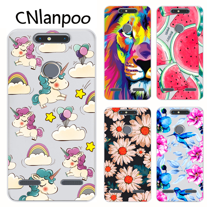 For ZTE Blade V8 Mini Case Cartoon Painted Soft TPU Silicone Phone Protective Back Cover Case For ZTE V8 Mini Fundas