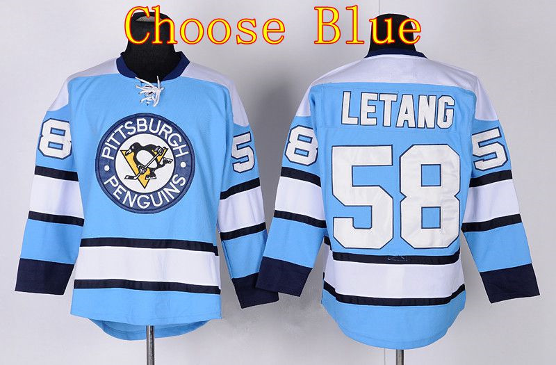 Pittsburgh Penguins Ice Hockey 58 Kris Letang Jersey CCM Vintage Retro  Winter Classic Letang Throwback Jersey Black Yellow Blue-in Hockey Jerseys  from ... d38c07917