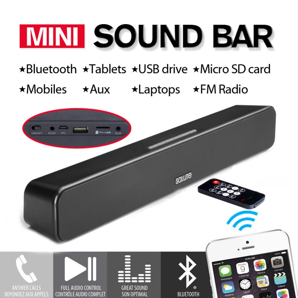 Mini Sound Bar 12 W Zwarte Draadloze Bluetooth Luidsprekers APE / - Draagbare audio en video - Foto 2