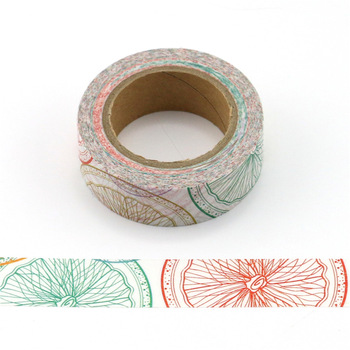 Cute kawaii lemon fruit Masking Washi Tape Decorative Adhesive Tape Diy Scrapbooking School Office Supply 4cm flower falls kawaii deco adhesive paper floral masking washi tape stickers scrapbooking office decoration cute stationary