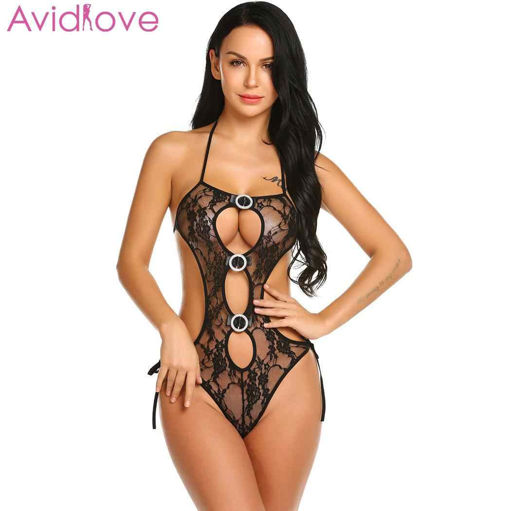 Avidlove Women Lace Teddy Lingerie Backless One Piece Babydoll Bodysuit