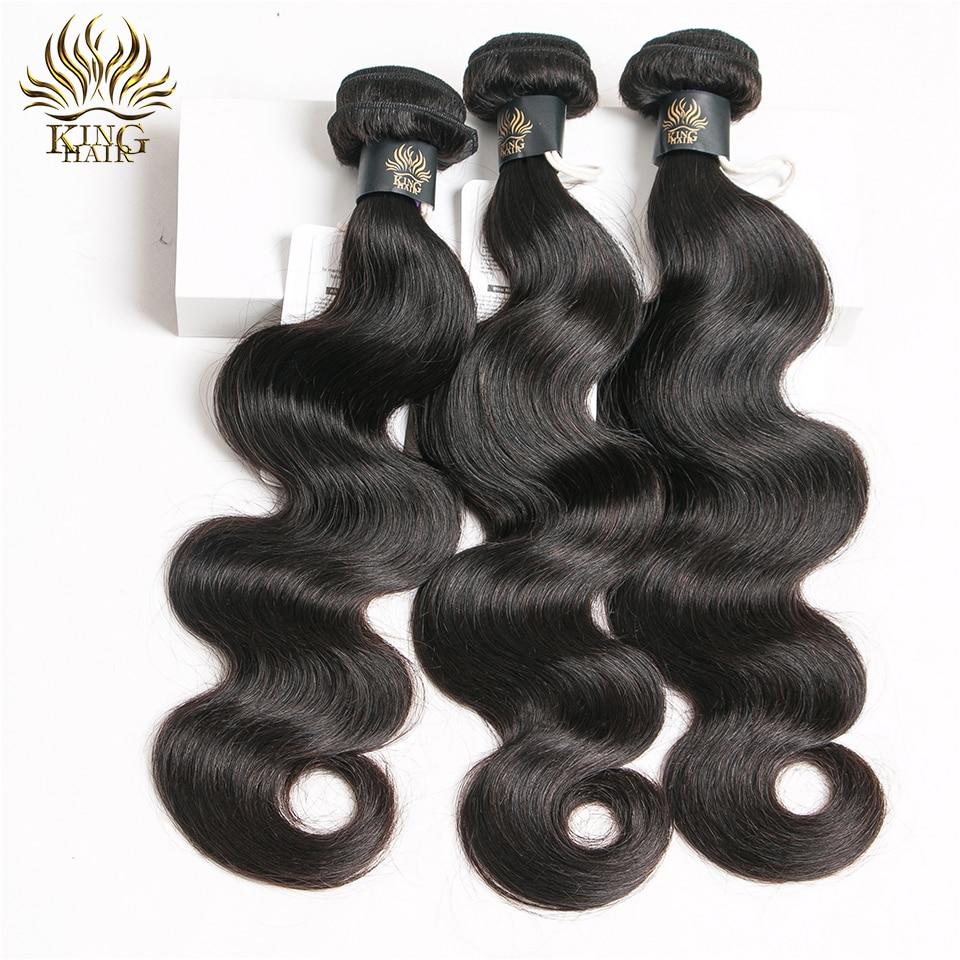 Indijski telesni valovi za tkanje las naravne barve 100% človeški - Človeški lasje (za črne) - Fotografija 1