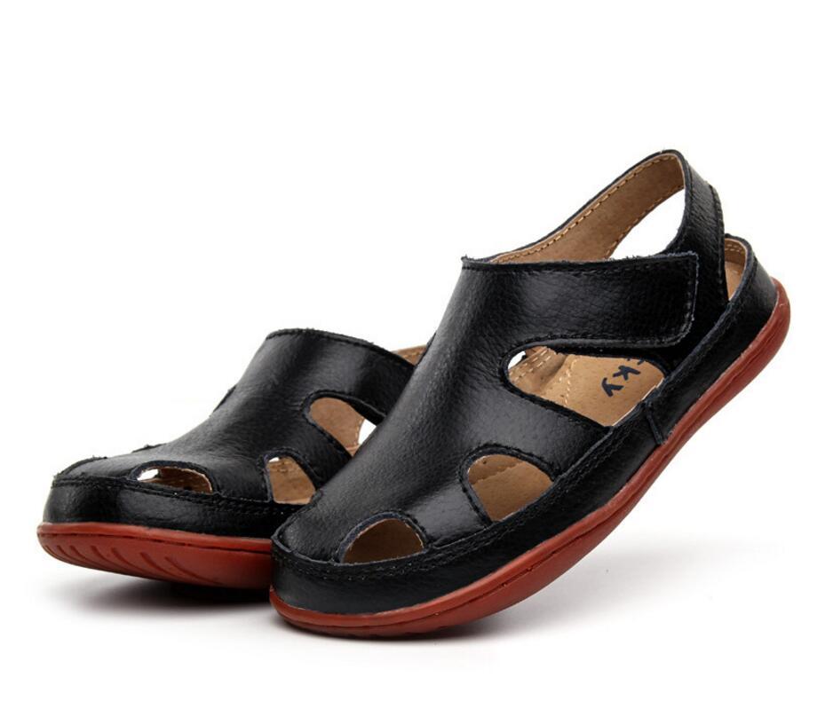 Children's leather sandals-25