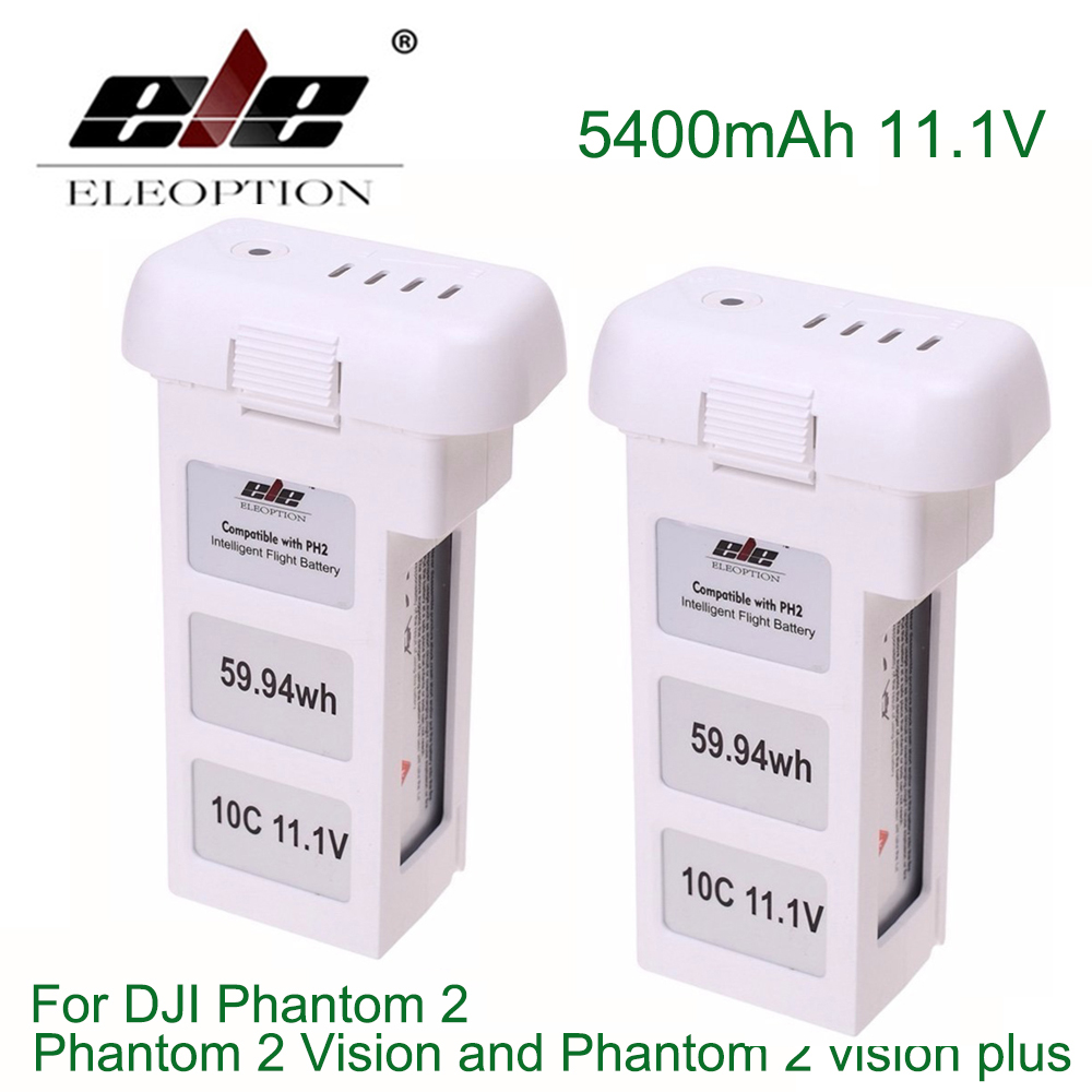 ELE ELEOPTION 2PCS 5400mAh 11.1V Upgraded Battery for DJI Phantom 2 Phantom 2 Vision and Phantom 2 vision plus 4 pairs 9 9443 self tightening propeller prop for dji phantom 2 vision plus