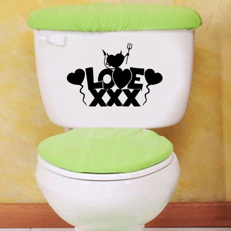 Love Sex Fashion Home Decor Bathroom Vinyl Wall Decal Toilet Sticker 6ws0090 China Mainland