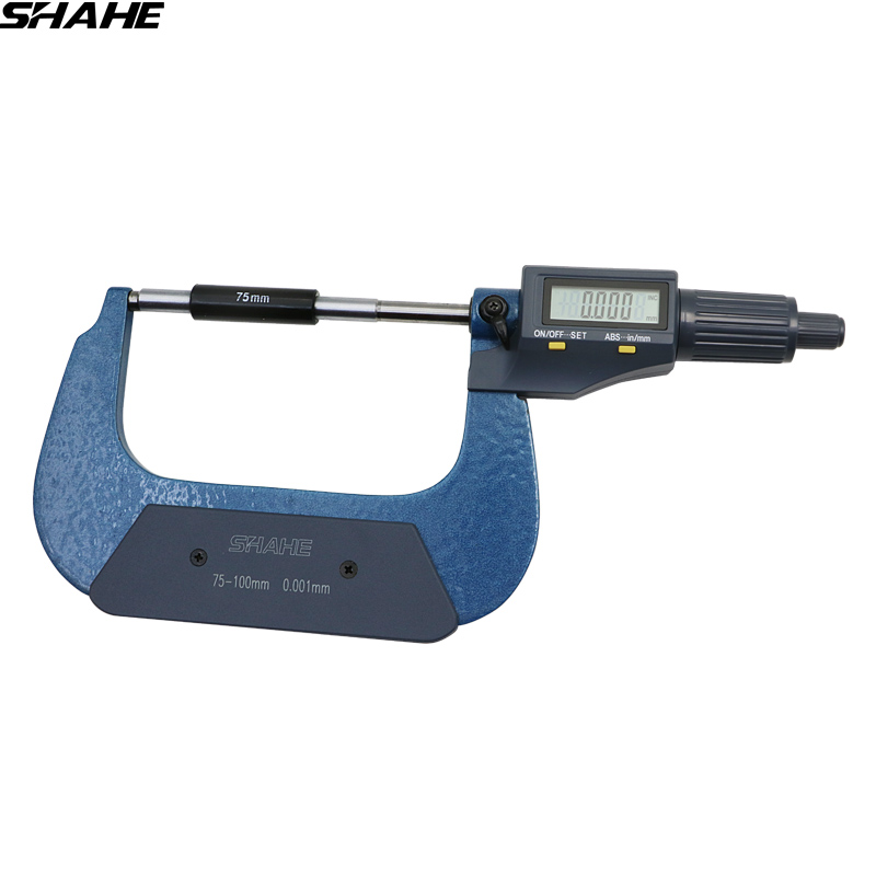 75-100 mm digital micrometer electronic micrometer 0.001 mm micron outside micrometer caliper gauge measuring tools digital micrometer for external measurements 0 25 mm 0 001mm micrometer electronic acute electronic single point micrometer