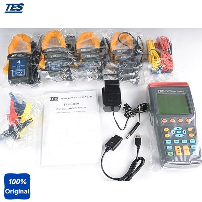 Testeur d'analyseur de puissance à 3 phases vrai RMS avec logiciel TES3600