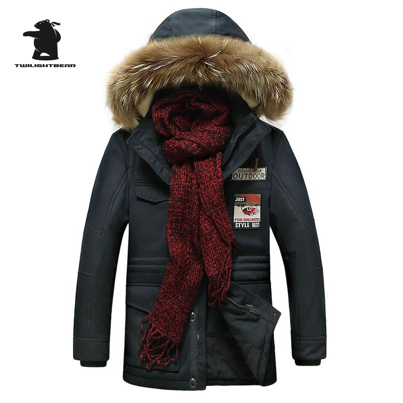 High Quality Brand Men's Casual Cotton Jacket New Fashion Thicken Winter Jacket Men Warm Hooded Coat Parkas Pull Home C16E15819 2016 brand new high quality white duck down jacket fashion casual thicken warm men winter jacket coat black white size m 3xl