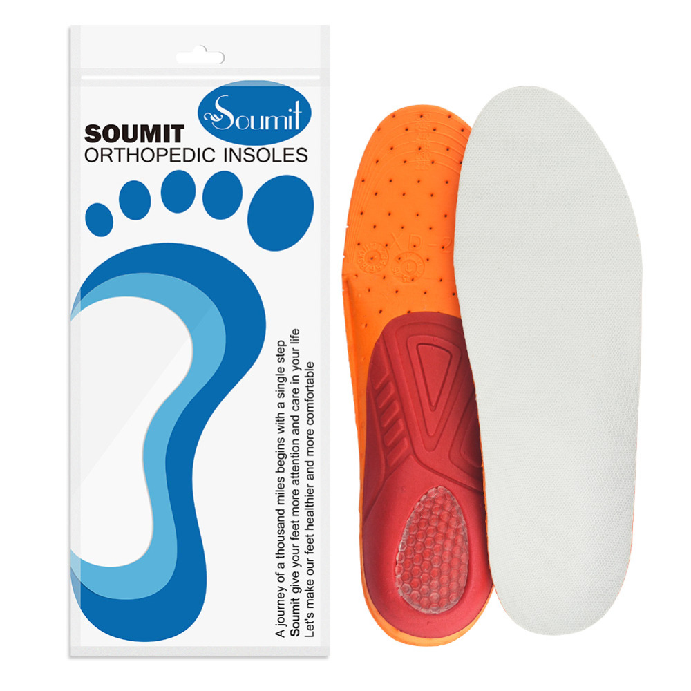 Soumit Ultra Light Breathable Insole Remove Odors Insole Non-slip Shock Absorption Insole for Men Women Sport Running Basketball