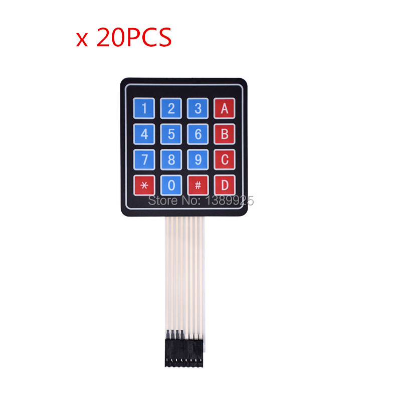 20PCS New 4*4 Matrix Array/Matrix Keyboard 16 Key Membrane Switch Keypad