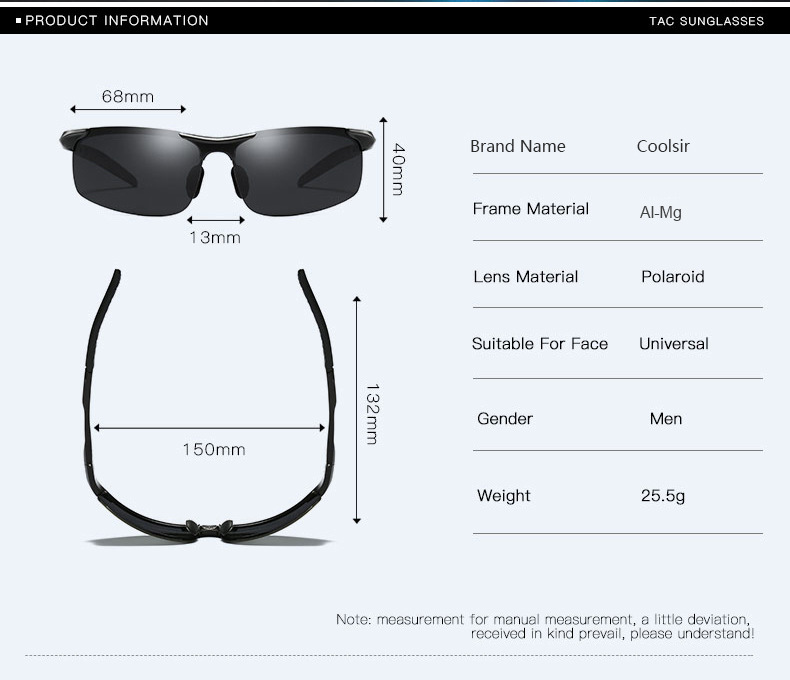 Image 5 - Bruno Dunn polarized Men sunglasses 2019 sunglases sports zonnebril mannen lunette soleil homme oculos de sol masculino aviador-in Men's Sunglasses from Apparel Accessories