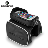 ROCKBROS Cycling Bag Rainproof Bike Front Head Bag Top Tube Double IPouch Bicycle Frame Pannier 5