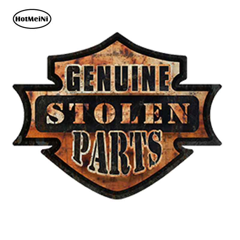 HotMeiNi 13x10cm Car Styling Hot Rod Rat Rod Genuine Stolen Parts Car Sticker Rusted Oil Gasser Waterproof Windows Accessories stolen