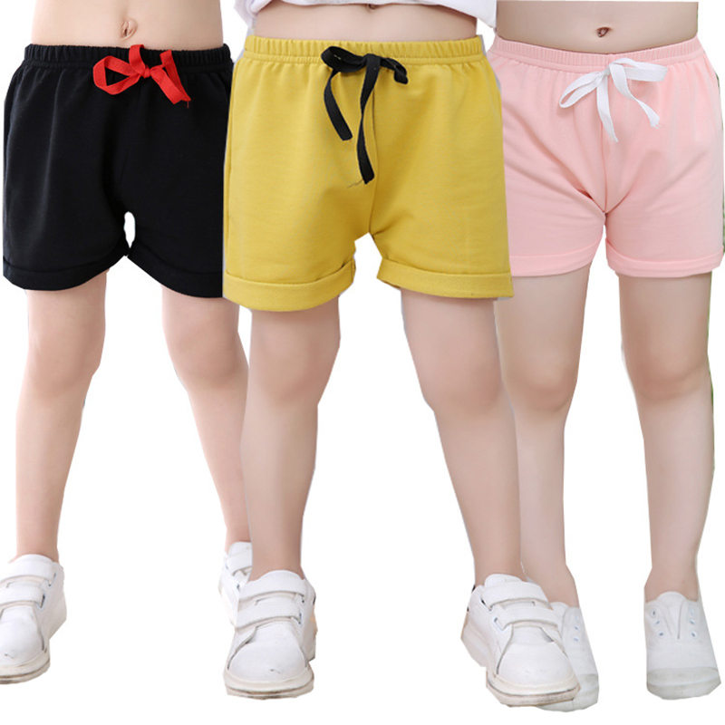 Wholesale 8 Colors Cool Thin Children Shorts for Girls Baby and Boys 1 6 year Old Casual Solid Cotton Soft Kids Pants for Summer in Shorts from Mother Kids